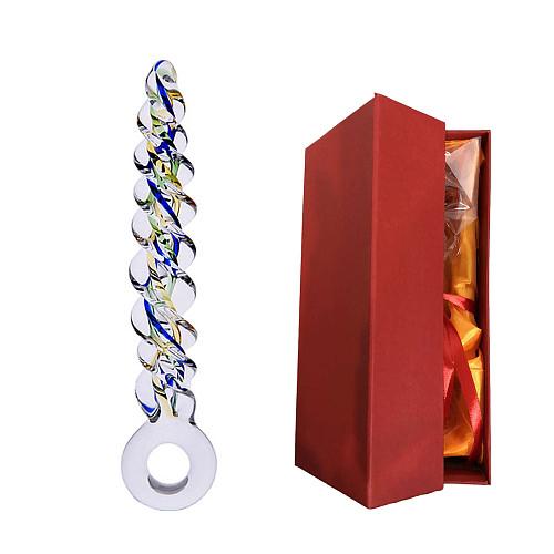 Spiral Glass Dildos Anal Plug