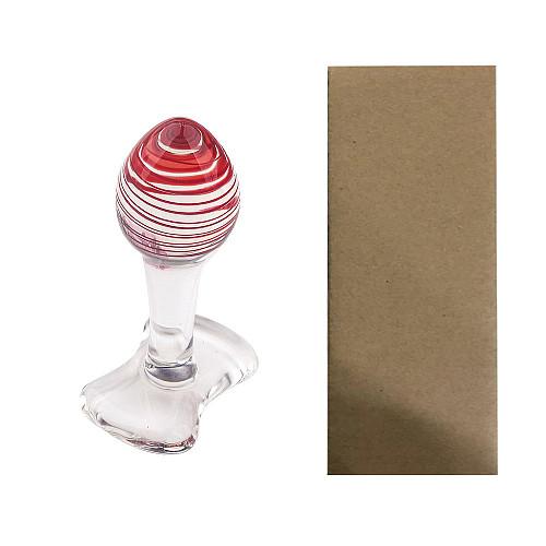 Glass Anal Plug G-Spot Massager Dildo Crystal Butt Plug