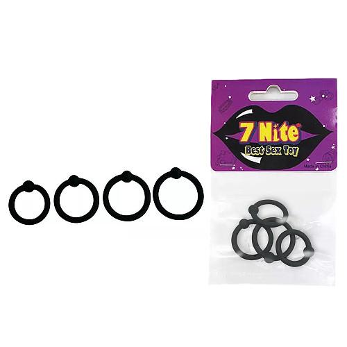 4 PC/Set Cock Ring Get Hard Penis Ring Enlarger Last Longer Silicone Delay Ring