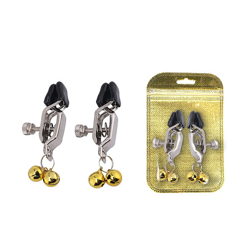 Metal Bells Nipple Clamps Labial Clips Nipple Stimulators