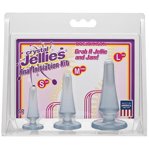 Crystal Jellies Anal Plug Kit - Clear