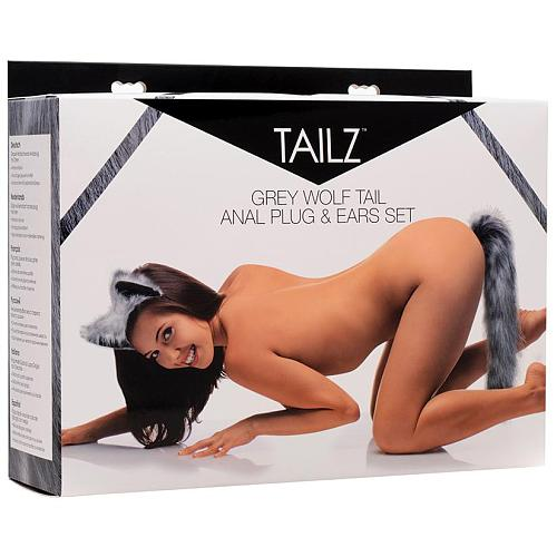 Tailz Wolf Tail and Ears Set-Grey