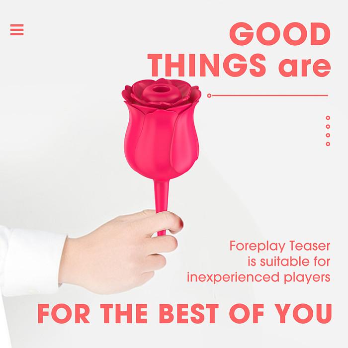 Rose G-Spot Sucking Vibrators