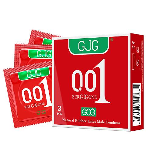 GJG 001 Series Ultra-Thin Zero Distance Natural Latex Rubber Condoms 3PCS