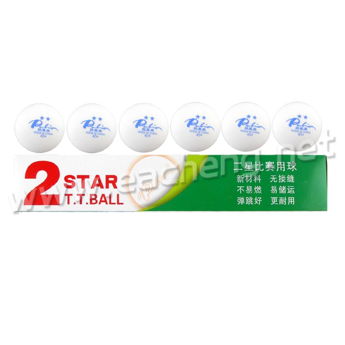 Palio Table Tennis Ball New Material Seamless 2-Star 40+, white
