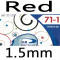 red 1.5mm