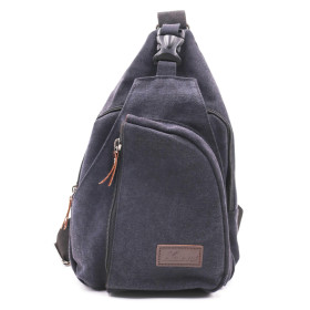 Kalevel Sling Bag Chest Shoulder Backpack Canvas Crossbody Bags Outdoor Casual Sling Multipurpose Shoulder Bag Cool Sports Travel Unbalance Backpack for Men Women - Adjustable Strap Up to 56.3in