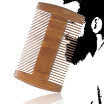 Kalevel Green Sandalwood Beard Comb Double Sided Combs Anti Static Pocket Beard Brush and Comb Perfect Gift for Mothers Day and Fathers Day