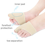 Kalevel 2pcs Bunion Corrector Relief Bunion Toe Separator Spacer Gel Pads Straightener Bunion Splint Night Protector Sleeves for Men Women Foot Pain Relief in Hallux Valgus, Big Toe Joint, Hammer Toe