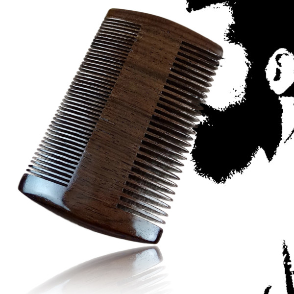 Kalevel Beard Combs for Men - Ebony Wood Combs Natural Double Sided Comb for Men Anti Static Pocket Hair Comb Natural Wood Comb for Hair and Beard