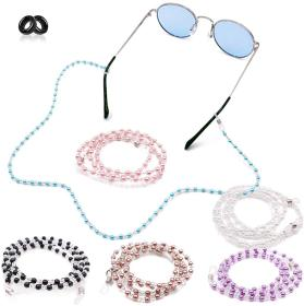 Kalevel Eyeglass Chain Beaded Glasses Strap Chain Holder Necklace Pearl Sunglasses Eyeglass Chains for Women