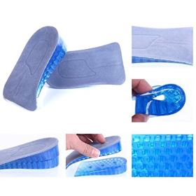 Kalevel 4.5cm 1.8inch Height Half Elevator Insole Silicone Increased Insoles Shoe Pads for Men Women