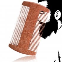 Kalevel Wood Beard Comb Red Sandalwood Pocket Beard Moustache Comb No Static Hair Comb Perfect Gift for Father, Mother and Friends
