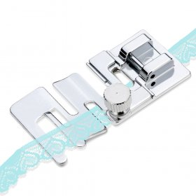 Kalevel Elastic Cord Band Fabric Stretch Sewing Machine Presser Foot Fits for Low Shank Snap-On Domestic Singer, Brother, Janome, Babylock, Elna, Euro-Pro, Simplicity, White, Kenmore, Juki, New Home