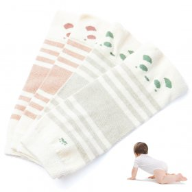 Kalevel 2 Pairs Baby Toddler Leg Warmers Cotton Infant Leggings Knee Pads Unisex