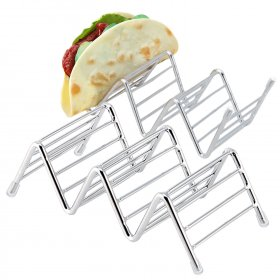 Kalevel Taco Holder Stand Taco Tray Oven Stainless Steel Taco Rack Taco Serving Tray for Hard or Soft Shell Tacos