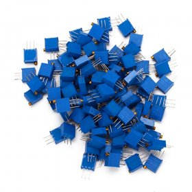 Kalevel 50pcs 5k Ohm Resistor Kit 3296 Potentiometer Assorted Kit 5k Ohm Potentiometer Kit High Precision Cermet Potentiometer Trimpot Trimmer Pot - 5K Ohm (502)