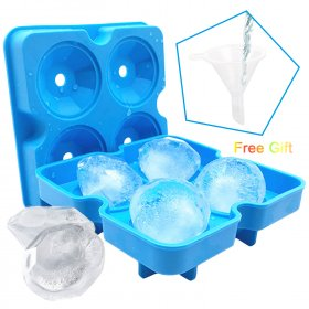 Kalevel Ice Cube Trays with Lids BPA Free Silicone Ice Molds Diamond for Drinks Whiskey Cocktails Bourbon with Bonus Mini Funnel
