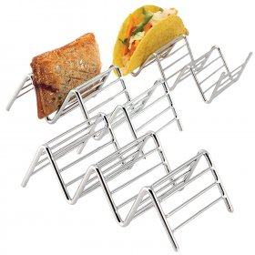 Kalevel Taco Holders Shell Stand Stainless Steel Taco Rack Oven Safe Metal Taco Holder Taco Serving Tray