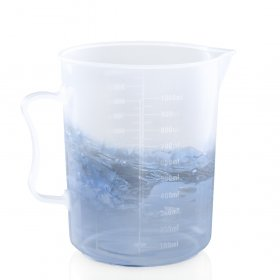 Kalevel Measuring Beaker 1000ml with Handle Measuring Cup Plastic Graduated Pitcher Transparent liquid Measuring Cups Laboratory Measuring Beakers Pitchers with Spout (1000ml)