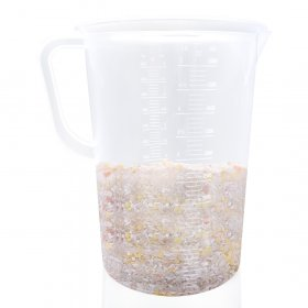 Kalevel Plastic Beaker 5000ml with Handle Graduated Measuring Cup Clear Lab Kitchen Measuring Pitcher Liquid Polypropylene Measuring Cup with Pour Spout (5000ml)