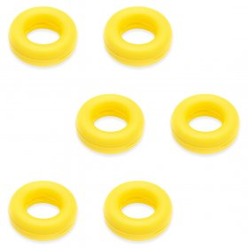 Kalevel 3 Pairs Temple Tips Eyewear Comfort Retainer Silicone Eyeglass Sleeves Anti Slip Grips Round Ear Hooks Soft Ear Cushions for Glasses Spectacle Sunglasses Reading Eyewear (Yellow)