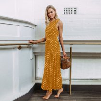 Summer Polka Dot Button Dress