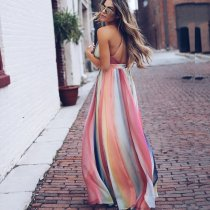 Bohemian Printed Halter Sling Dress