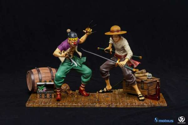 【Pre Order】Mobius Studio One-Piece Red Hair Shanks and Buggy 1:8 Resin Statue Deposit
