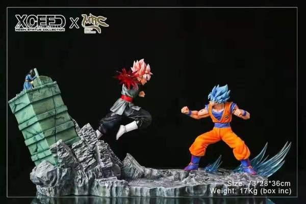 【Pre order】Xcreed Mrc Studio DragonBall Super  Goku Saiyan blue VS Goku Saiyan Rose 1:6 Scale Resin Statue Deposit