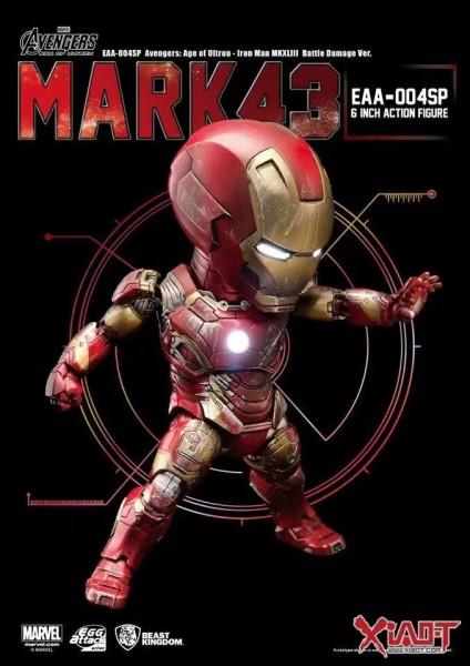 【Pre order】Beast Kingdom Marvel 10th Anniversary Iron Man MK43 Battle Damage Genuine Edition Deposit