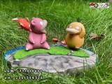 【Pre order】CCCAT Studio Pokemon Psyduck And Slowpoke Fishing Resin Statue Deposit