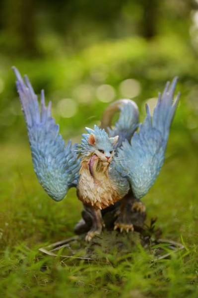 【Pre order】Animal Planet 山村れぇ  Fantasy Creatures Jade Feather Cat Resin Statue (Copyright) Deposit