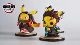 【Pre order】GHOST Pikachu Cos Demon Slayer: Kimetsu no Yaiba Kamado Nezuko  Tanjirou Resin Statue Deposit