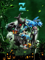 【In Stock】ZN Studio Pokemon Halloween Bulbasaur  Hand Over Your Seeds Quickly  Resin Statue