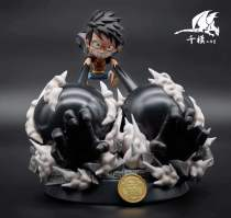 【In Stock】QianMo Studio One-piece Three Gear Luffy SD Resin Statue