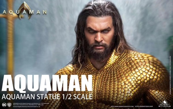 【Pre order】Queen Studio DC Justice League Aquaman 1/2 Resin Statue Deposit(Copyright)
