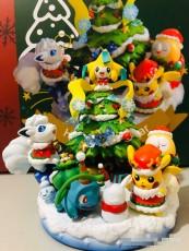 【In Stock】PL Studio Pokemon Christmas scene Resin Statue