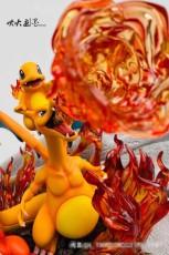 【In Stock】EGG-Studio Pokemon Charizard Family Resin Statue