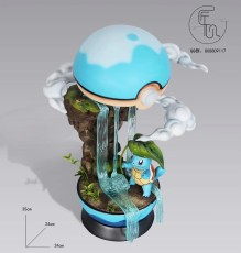 【In Stock】JiangXin Studio Pokemon Poké Ball World Squirtle Resin Statue