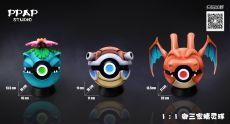 【Pre order】PPAP Studio Pokemon Royal Three PokeBall 1/1 Scale Resin Statue Deposit