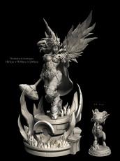 【Pre order】Windseeker Studio Warcraft/Dota Yrel Paladin Resin Statue Deposit