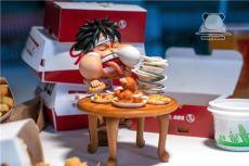 【In Stock】Emoji Studio One-piece Eating Sleeping Luffy SD Resin Statue
