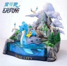 【Pre order】Pokemon Research Laboratory Lapras in Rune City Resin Statue Deposit