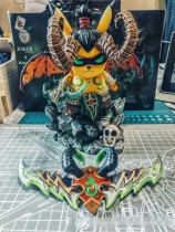 【In Stock】Joker Studio &Peter.P Studio Warcraft WOW No.001 Pikachu Cosplay illidan Resin Statue