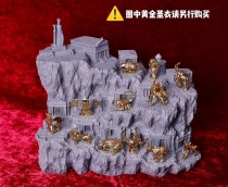 【In Stock】Personal Custom Saint Seiya THE LOST CANVAS Athena and The Zodiac Gold Saint Scene Base Resin Statue