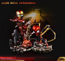 【Pre Order】DNF Toys IRON MAN MK85&IRON SPIDER SD Scale Resin Statue Deposit