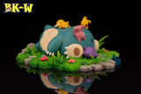 【Pre order】BKW Studio Pokemon Good Night Snorlax Resin Statue Deposit