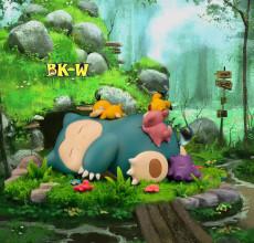 【Pre order】BKW Studio Pokemon Good Night Snorlax Resin Statue Deposit