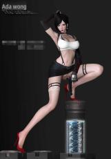 【Pre order】Faceted Pebble Studio Resident Evil Ada Wong with Tifa Resin Statue Deposit